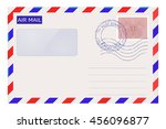 Air Mail Envelope With Post...