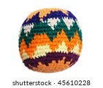 Knit Multicolored Hacky Sack...