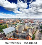 the aerial view of munich city... | Shutterstock . vector #45610843