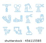 robotic arm icons  outline icons | Shutterstock .eps vector #456115585