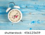 alarm clock vintage style on...   Shutterstock . vector #456125659