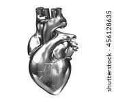 3d Silver Hearts Render...