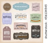 vintage labels ans signs... | Shutterstock .eps vector #456134545