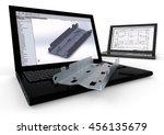3d render image representing 3d ... | Shutterstock . vector #456135679