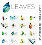 leaf logo set. collection of...   Shutterstock . vector #456142444