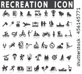 recreation icons on a white...