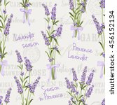 seamless pattern of lavender... | Shutterstock . vector #456152134