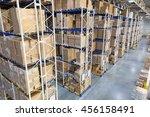 huge distribution warehouse... | Shutterstock . vector #456158491