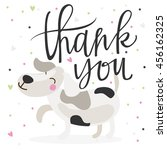 cute thank you card with dog | Shutterstock .eps vector #456162325