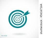 aim icon | Shutterstock .eps vector #456167164