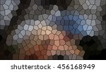 mosaic sandstone background wall | Shutterstock . vector #456168949