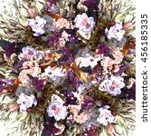 stylized background floral...   Shutterstock . vector #456185335