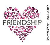 friendship day banner. | Shutterstock . vector #456190855
