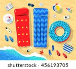 top view illustration of... | Shutterstock .eps vector #456193705