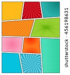 big set of comic book... | Shutterstock .eps vector #456198631