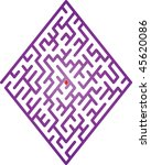 color maze. vector illustration.   Shutterstock .eps vector #45620086