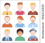 man avatar set | Shutterstock .eps vector #456213325