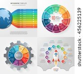 four infographic templates with ... | Shutterstock .eps vector #456225139