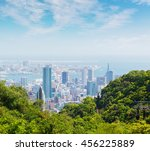 kobe cityscape and skyline with ... | Shutterstock . vector #456225889