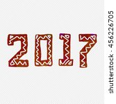 2017 grunge stamp. new year... | Shutterstock .eps vector #456226705