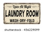 laundry room funny vintage... | Shutterstock .eps vector #456229099