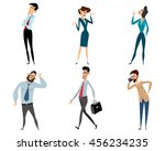 vector illustration of a six... | Shutterstock .eps vector #456234235