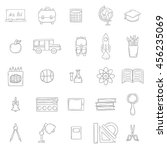 vector illustration with... | Shutterstock .eps vector #456235069