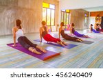 fitness asian female group... | Shutterstock . vector #456240409