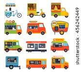 street food festival color... | Shutterstock .eps vector #456242449