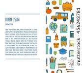 vector illustration with... | Shutterstock .eps vector #456243781