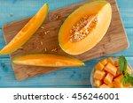 Organic Cut Cantaloupe Melon...