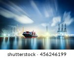 logistics and transportation of ... | Shutterstock . vector #456246199
