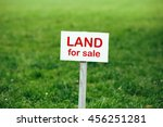 land for sale sign against... | Shutterstock . vector #456251281