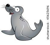 funny cartoon seal | Shutterstock .eps vector #45625696