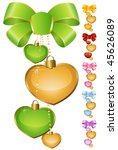 set of beautiful hearts with... | Shutterstock .eps vector #45626089