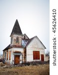 Old Abandoned Church In Rural...