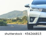 close up front of new silver... | Shutterstock . vector #456266815