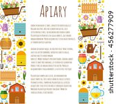 vector template flyers. apiary. ... | Shutterstock .eps vector #456277909