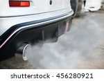 combustion fumes coming out of... | Shutterstock . vector #456280921