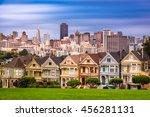 Small photo of San Francisco, California, USA cityscape at Alamo Square.