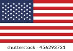 vector image of american flag | Shutterstock .eps vector #456293731