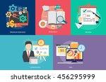 creative process conceptual... | Shutterstock .eps vector #456295999