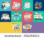 creative process conceptual... | Shutterstock .eps vector #456296011