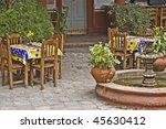 courtyard mexican restaurant... | Shutterstock . vector #45630412