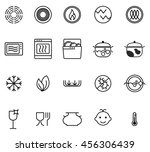 symbols of food grade metal... | Shutterstock .eps vector #456306439