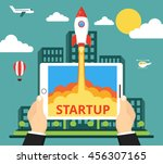 successful startup business... | Shutterstock .eps vector #456307165