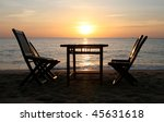 Dining Table On A Beach Close...