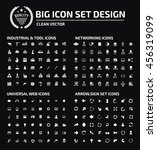 big icon set industry icon... | Shutterstock .eps vector #456319099