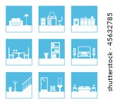 square icons with home interior ... | Shutterstock .eps vector #45632785
