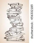 big pile of different books.... | Shutterstock .eps vector #456332185